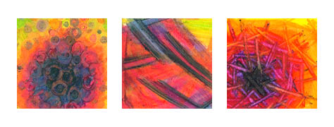 Crayon tryptic - dark two bright